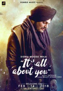 Its All About You Lyrics - Sidhu Moose Wala