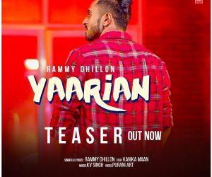 Yaarian Lyrics - Rammy Dhillon